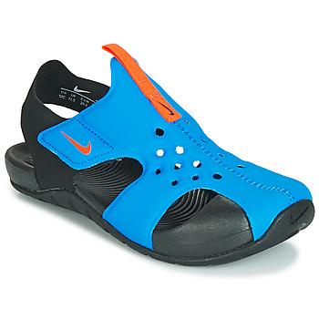 Boty Chlapecké Sandály Nike SUNRAY PROTECT 2 PS Černá / Modrá