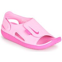 Boty Dívčí Sandály Nike SUNRAY ADJUST 5 Růžová