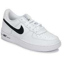 Boty Děti Nízké tenisky Nike AIR FORCE 1-3 PS Bílá / Černá